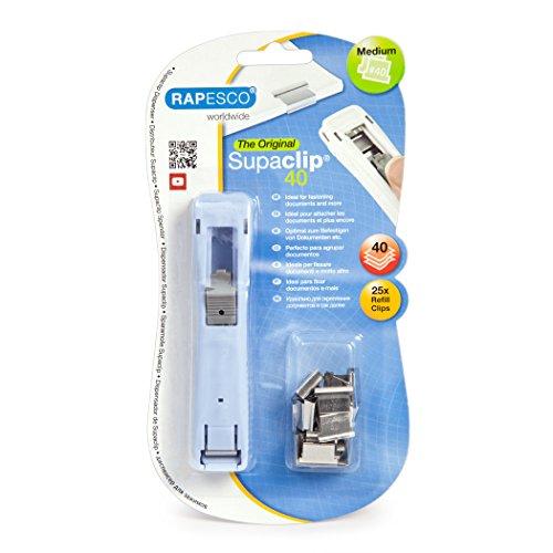 Rapesco Supaclip #40 Dispenser with 25 Refill Clips