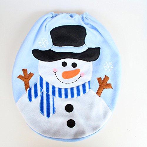 SAMTITY Navidad Fundas para Asientos de Inodoro muñeco de Nieve Festivo Asiento de Inodoro Cubierta Navidad baño...