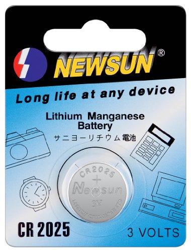 New Sun Pile Bouton CR2025 Lithium 3 Volt 1