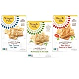 Simple Mills, Snacks Variety Pack, Fine Ground Sea Salt, Rosemary & Sea Salt, Farmhouse Cheddar...