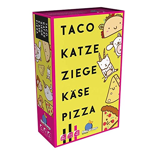 Asmodee BLOD0074 Blue Orange Taco Katze Ziege Käse Pizza, Party-Spiel, Deutsch