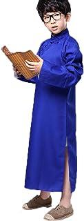 コスプレ ハロウィン クリスマス パーティーグッズ なりきり 子供用 大人用相声チャンパオ 長袍 中国漫才 お笑い コスチューム (150cm, ブルー)