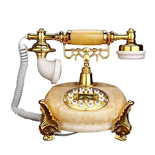 VERDELZ Teléfono Fijo Antiguo con Cable de Marcación Fija Sistema Identificador de Llamadas TeléfonoDecorativo del Hogar de la Oficina