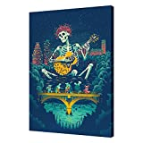 LONGCE Grateful Dead Canvas decorative paintingWall art living room bedroom Poster 12x16inch(30x40cm)Unframed
