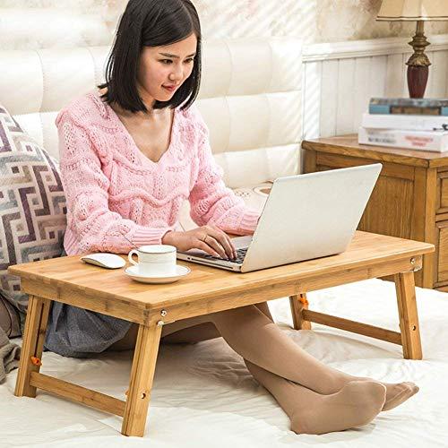 FGDSA Mesa de pie portátil de Madera Maciza multifunción Plegable Conveniente Puede Levantar Escritorio computadora Escritorio bambú Nogal Claro tamaño 4 2 Tipos de especificaciones