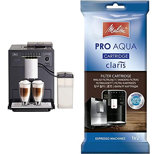 Melitta Caffeo Ci E970-103, Cafetera Molinillo, Café Molido y en Grano + Pro Aqua Cartucho de Filtro Descalcificador…