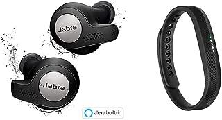 Jabra 完全ワイヤレスイヤホン Elite Active 65t チタンブラック Alexa対応 BT5.0 マイク付 防塵防水IP56 2台同時接続 2年保証 北欧デザイン 【国内正規品】 100-99010002-40-A & Fitbit Flex2 フィットネストラッカー Black L/Sサイズ [日本正規品] FB403BK-JPN
