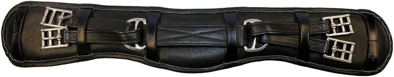 (80cm , Black)  Henri de Rivel Equaliser Dressage Leather Girth