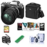 Fujifilm X-T4 Mirrorless Digital Camera with XF 16-80mm f/4 R OIS WR Lens, Silver - Bundle with Shoulder Bag, 64GB SDXC Card, Cleaning Kit, Card Reader, Memory Wallet, Pc Software Package
