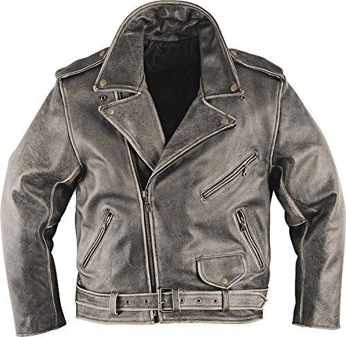 Held Chaqueta de piel oldstyle marrón Used–Cualquier chaqueta exclusiva farbgebung–Moto–Tiempo libre Ropa–Nuevo–Primavera verano marrón M