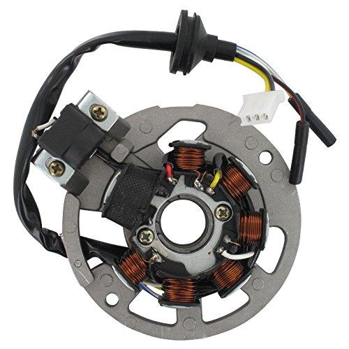 Xfight-Parts Ankerplatte mit Pick-up aussenliegend 5 Kabel 1x3 und 2x1 Pol. 2Takt 50 ccm liegender Minarelli Motor AC/LC 1E40QMB Motowell Magnet City