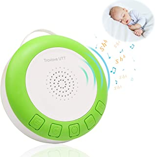 Shusher for Baby Sleep Soother Sound Machine, Portable Shusher with Auto-Off Timer and Volume Control,for Newborns and Up, Green