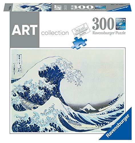Ravensburger – Puzzle für Erwachsene 300 P – Die große Welle – Hokusai – Art Collection – 14845