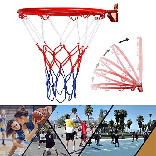 MerryDate Canestro da Basket Anello, da Basket Goal Canestro Bordo Rete, Pieghevole da Parete Canestro Anello per Interni Esterni Bambini