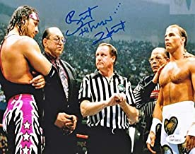 Bret 'Hitman' Hart Autographed v. Shawn Michaels at Wrestlemania 8