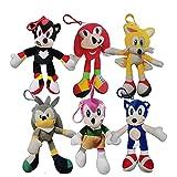 Colgante de Sonic Juego de 6 Super Sonic Sonic Super Sonic 2 Peluche de Juguete Erizo Muñeca Regalo ...