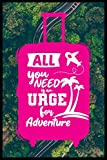 All You Need Is An Urge For Adventure: A Travel Journal For The Curious Minded (Travel Journal For Women & Men, Travel Journal For Kids,Travel Journal ... Adventure To Be Remembered