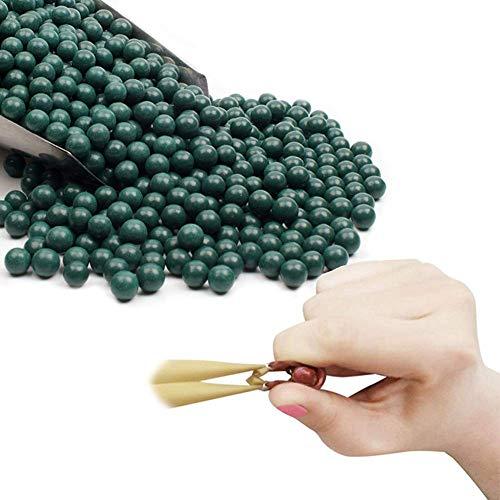 GEGEQUNAERYA Schleuder Munition Zwille Steinschleuder Slingshot, 10mm Recycelbarer Schleuderball aus Hartem Ton zum Schießen von Übungen, EIN Schönes Geschenk für Slingshotsfans (D,400 pcs/1*Pack)