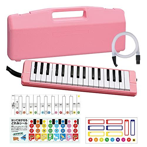 オリジナルステッカー付き 全音 ZENON ゼンオン 鍵盤ハーモニカ C-32P PINK (ピンク)