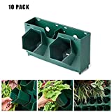 縦型ウォールポット、自給式ガーデンプランターの壁掛け植物成長花瓶花ハーブ野菜、10パック,B