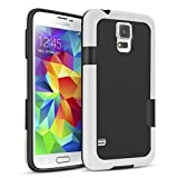 TILL for Galaxy S5 Case, TILL(TM) Ultra Slim 3 Color Hybrid Impact Anti-Slip Shockproof Soft TPU Hard PC Bumper Extra Front Raised Lip Case Cover for Samsung Galaxy S5 I9600 GS5 G900V [Black]