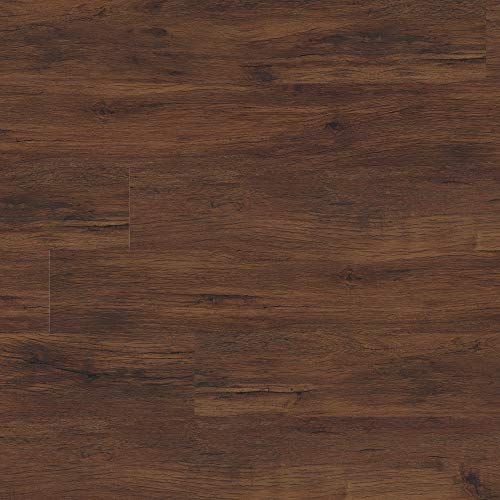 M S International AMZ-LVT-0083C 7 inch x 48 inch Luxury Vinyl Planks LVT Tile Click Floating Floor Waterproof Rigid Core Wood Grain Finish McKenna, Chestnut Hill Red, 23 Square Feet