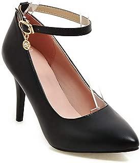 BalaMasa Womens Solid Travel Dress Urethane Pumps Shoes APL10520