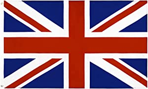 ANJOR United Kingdom UK Flag 3x5 Foot British National Flags Polyester with Brass Grommets 3 X 5 Ft