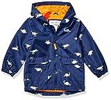 Carter's Boys' Little Favorite Rainslicker Rain Jacket, Color Changing Dinosaur, 7