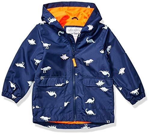 Carter's Boys' Little Favorite Rainslicker Rain Jacket (2T, Color Changing Dinosaur)