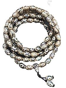 ZHIBO Natürliche tibetische Dzi-Perlen-Halskette, Armband