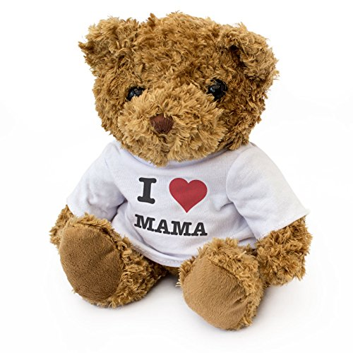 Teddybär mit Aufschrift I Love MAMAMA, niedlich, weich, kuschelig, Geschenk, Geburtstag, Weihnachten