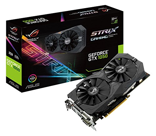 Asus ROG Strix-GTX1050-2G Gaming Nvidia GeForce Grafikkarte (2GB DDR5 Speicher, HDMI, DVI, DisplayPort)
