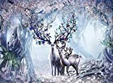 Awttmua Puzzles De 1000 Piezas para Adultos, Puzzles Familiares, Estera Educativa para Niños Y Adultos (Elk House)
