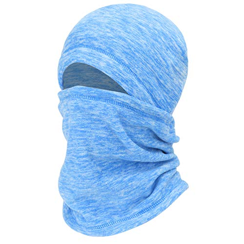 mysuntown Winter Balaclava Ski Mask, Tactical ski Full Face Cover Neck Warmer Hats Scarf for Men Women for Cold Weather (Blue)