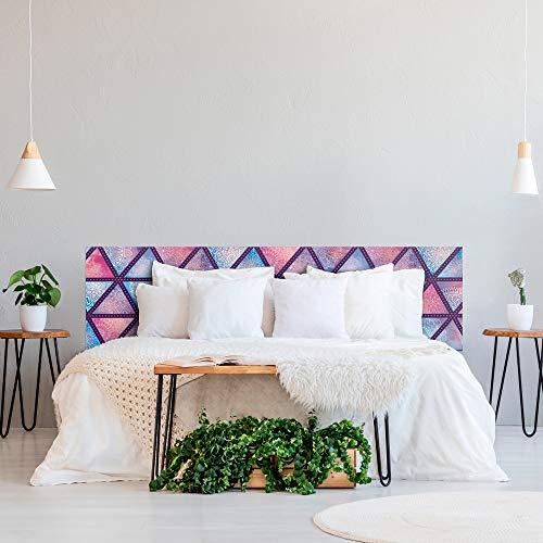 ROTULA TU MISMO Impresión Digital en PVC   Formas geométricas   Cabecero Original y Económico   Diferentes tamaños   (100 x 160 cm)