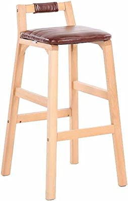 Bar Stools Nordic Style Modern Design Solid Wood Bar Stool Solid Wooden Leg Pp Seat Home Dining Coffee Bar Counter Stool Backless 68cm 2019 Latest Style Online Sale 50%