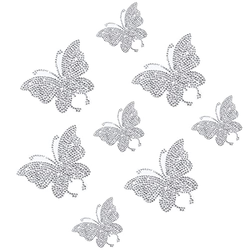 8 Pegatinas de Mariposa de Cristal Brillante, Calcomanías de Diamantes de Imitación...