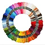 Cleana Arts 100 ovillos hilo de bordar de algodón de punto de cruz