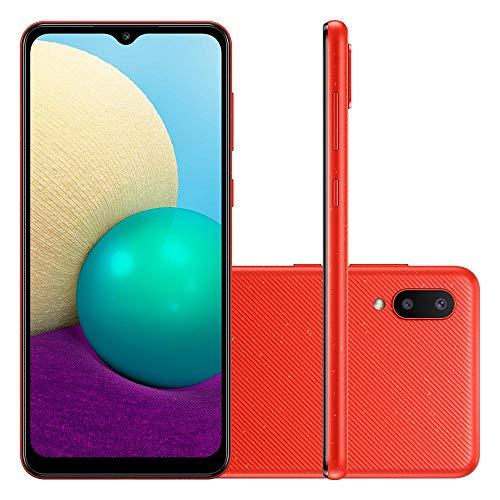 Smartphone Samsung Galaxy A02 32GB 13MP 6,5 Vermelho