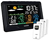 Youshiko YC9443 (Official 2020 UK Version), with 3 Outdoor Wireless Sensors Weather Station