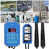 CHICIRIS Controlador PH/ORP con Kit de Montaje, Controlador Digital pH-ORP PH-803 Controlador PH ORP en línea Pruebas de Calidad del Agua para Piscinas(Enchufe de la UE)