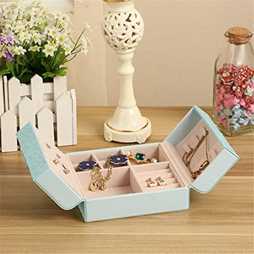 MUY Elegante Caja de Reloj con múltiples Ranuras Caja de joyería Organizador de Almacenamiento portátil Soporte para Pendientes Mujeres Exhibición de Joyas Estuche de Viaje para Mujeres Caja