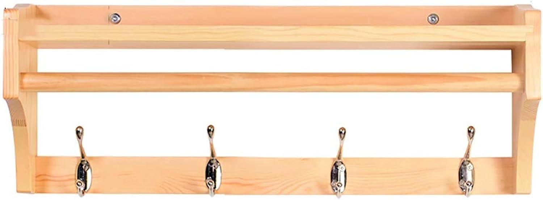 Coat Hook Coat Rack Wooden Key Hook Hanger Wall Hanging Hook Rack-Three colors Optional (Size   4 Hook)