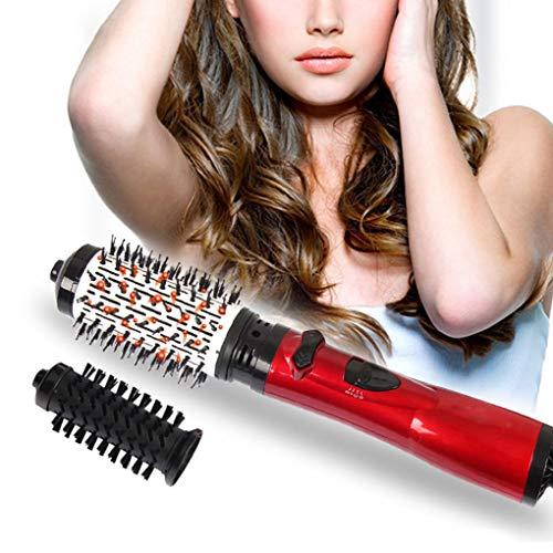 NADAENMF Rotierende Warmluftbürste für kurzes Haar 3 in 1 One Step Ionic Haartrockner Volumizer Haarglätter Lockenstab Automatische Lockenwickler Styling-Bürste