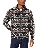 Amazon Essentials Men's Full-Zip Polar Fleece Jacket, Brown Geo, Large