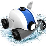 PAXCESS HJ1103 Cordless Vacuum Cleaner with 5000mAh Rechargeable Battery, 60-90 Mins Working Time, IPX8 Waterproof, Lightweight, Good for Cleaning Ground Pool, Blue
