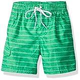 Kanu Surf Boys' Big Quick Dry UPF 50+ Beach Swim Trunk, Line Up Green, 10/12