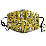 Math Doodle Yellow Mask Mouth Mask Neck Gaiter Mask Bandana Balaclava Easter St. Patrick's Day