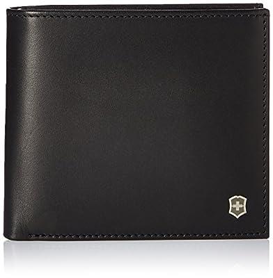 Victorinox Men's Altius Edge Pythagoras Deluxe Bi-fold Organizer with RFID, black leather, L